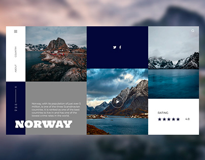 Norway country web design