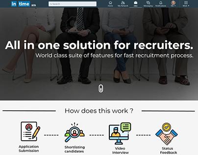 UX/UI design for recruitment feature of LinkedIn.