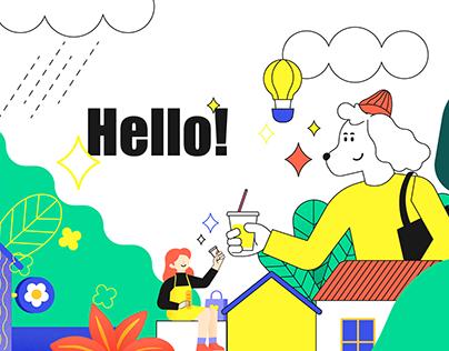 Kotoe Lab Brand Illustration