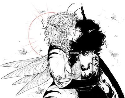"Couple ""Moth and Dragonfly"" OC'S - Nioka and Miora"