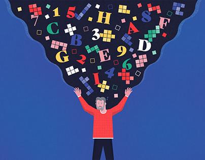 October Insights Puzzle Illustration / Quanta