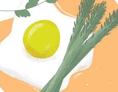 Food illustration series