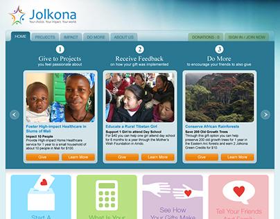 2009 - Redesign of Jolkona.org