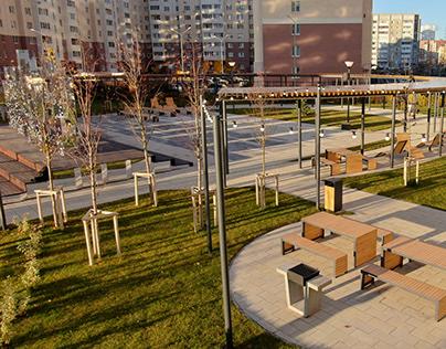 Проект двора в ЖК «Квартет», г. Пенза