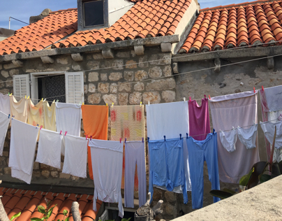 Laundry hanging in Dubrovnik