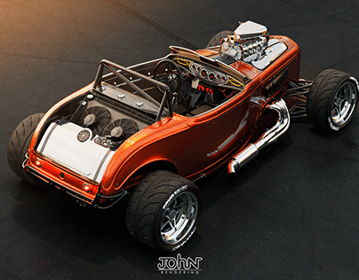Hot rod Ford Double 32