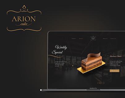 Arion Cake - Landing Page Design