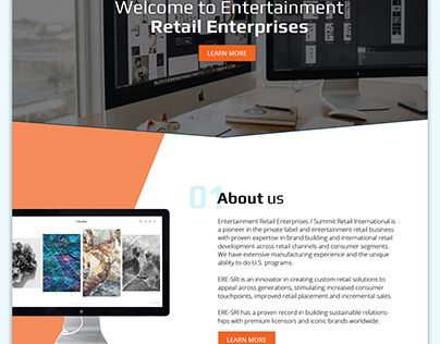 Homepage design for a digital agency