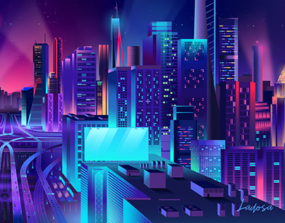 CITY ROADS - vector illustration
