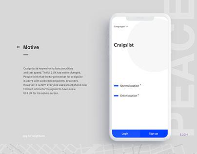 Craigslist App UI & UX Concept