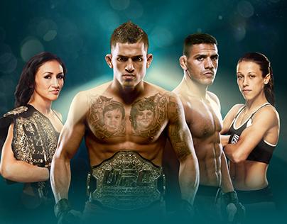UFC 185 Key Art
