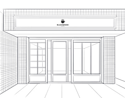 STOREFRONTS-LINE DRAWING