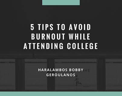 5 Tips to Avoid Burnout in College presentation slides