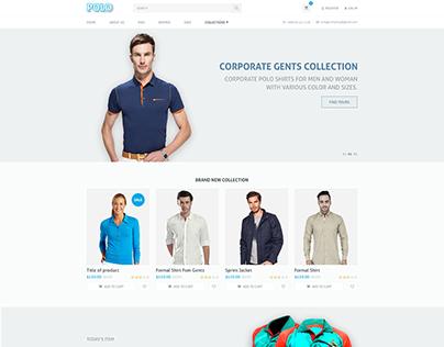Polo - Shirt Market Psd web template