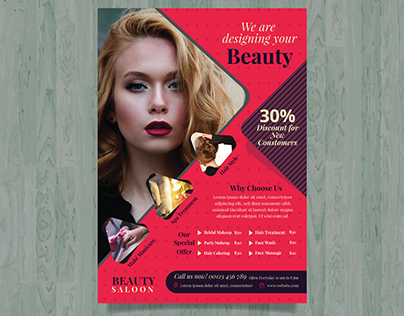 Beauty saloon flyer