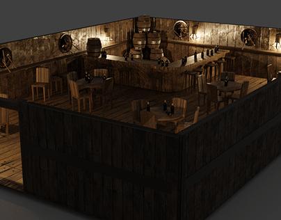 Viking tavern 3D design