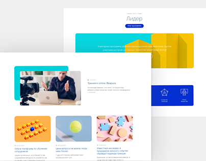 Corporate education. Redesign + layout