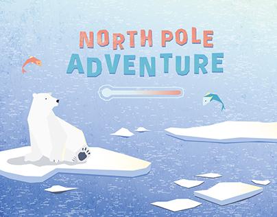 North pole adventure tablet game design