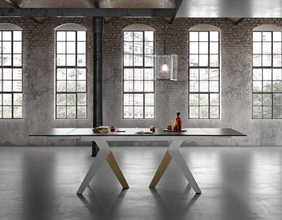 Matching: Photographed table on 3D virtual ambient