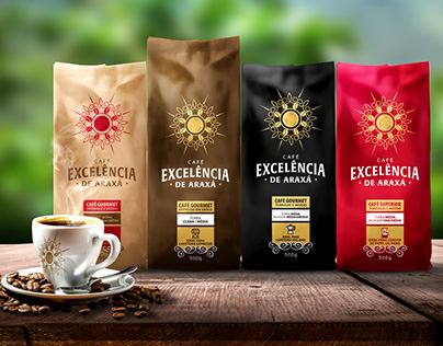 Coffee Excelencia de Araxá - Logo and packaging