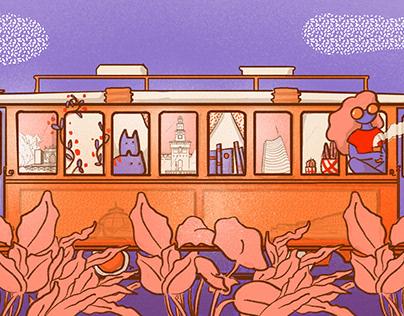 Editorial illustration Milan 2030 for Il Bullone