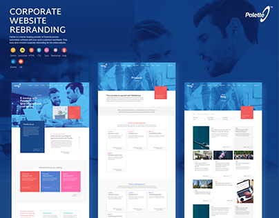 Palette Group - Corporate Website Design