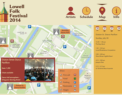 Interactive guide to the Lowell Folk Festival
