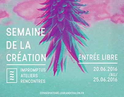 Semaine de la création - Conservatoire Chalon sur Saône