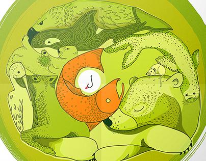Illustrated poster – Keystone species