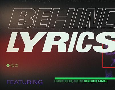 Spotify 'Behind the Lyrics'