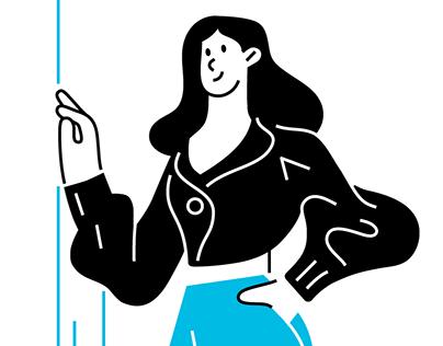 Call center illustrations