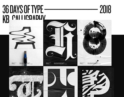 36 Days Of Type 2018 kb_calligraphy