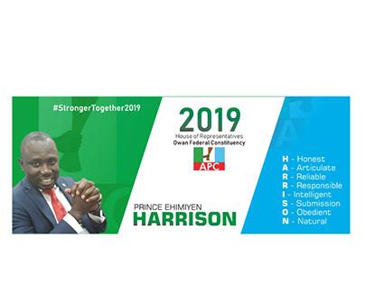 Campaign design for APC aspirant, Prince Harrison