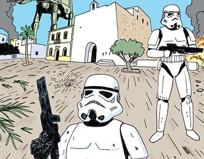 El ataque de las tropas imperiales