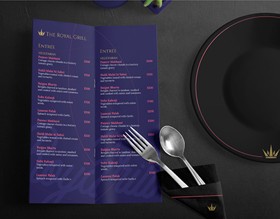 Brand Identity for The Royal Grill