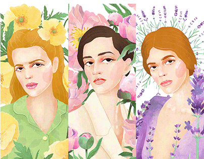 FLORY. Illustration for beauty brand