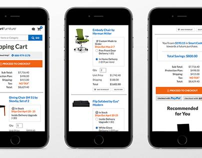 UX/UI Design for E-Commerce Platform, Smart Furniture