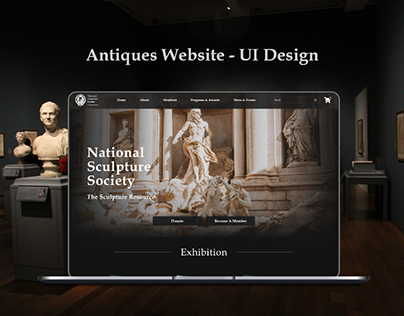 Antiques Website - UI Design