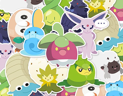 Pizza Party App Sticker Designs