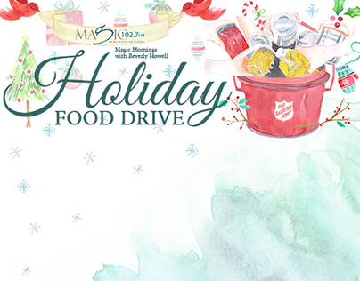 Holiday Food Drive Poster