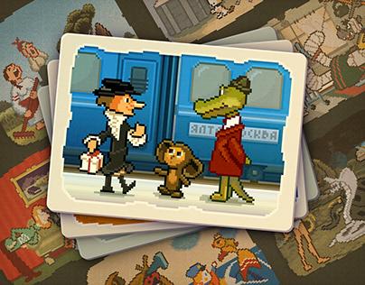 Old Soviet Cartoons Pixel Art