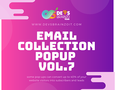 Email Collection PopUp Vol.7