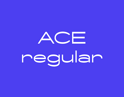 Ace typeface - regular