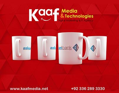 Cups / Mugs Branding Of Askari Bank Pakistan