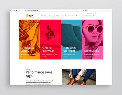 API Footwear Website