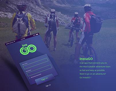 instaGO app UI