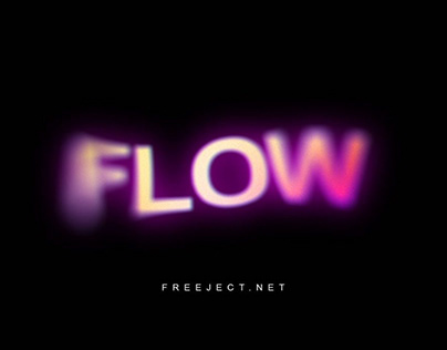 Free glow & blur text effect template design