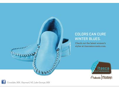 Itasca Leathergood Print Ad