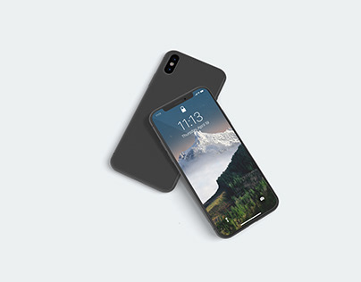 3D iPhone X Screen Mockup