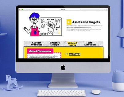 SVG character design for creative website uudly.com